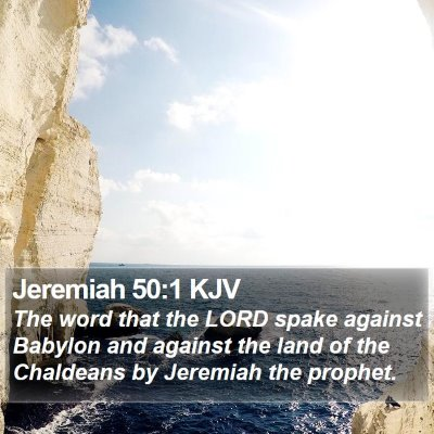 Jeremiah 50:1 KJV Bible Verse Image