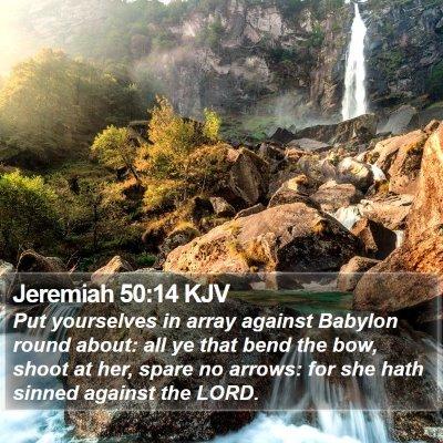 Jeremiah 50:14 KJV Bible Verse Image