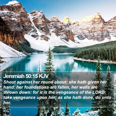 Jeremiah 50:15 KJV Bible Verse Image