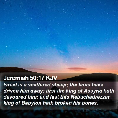 Jeremiah 50:17 KJV Bible Verse Image