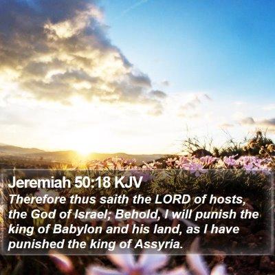 Jeremiah 50:18 KJV Bible Verse Image