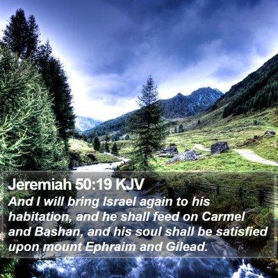 Jeremiah 50:19 KJV Bible Verse Image