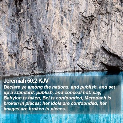 Jeremiah 50:2 KJV Bible Verse Image
