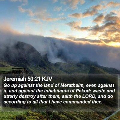 Jeremiah 50:21 KJV Bible Verse Image