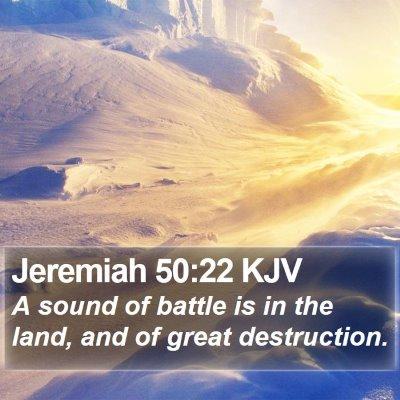 Jeremiah 50:22 KJV Bible Verse Image