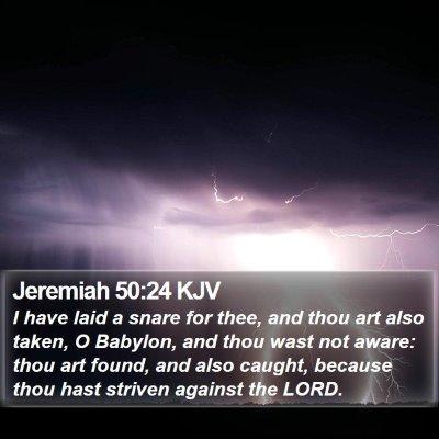 Jeremiah 50:24 KJV Bible Verse Image