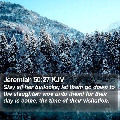 Jeremiah 50:27 KJV Bible Verse Image