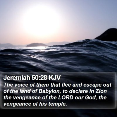 Jeremiah 50:28 KJV Bible Verse Image
