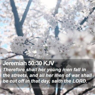 Jeremiah 50:30 KJV Bible Verse Image