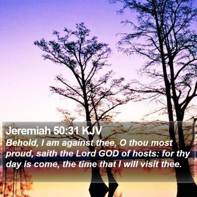Jeremiah 50:31 KJV Bible Verse Image