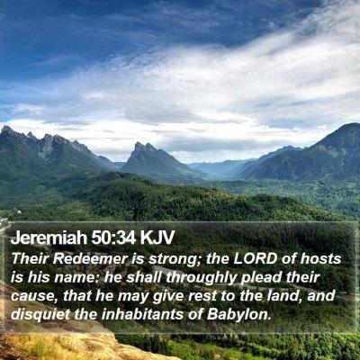 Jeremiah 50:34 KJV Bible Verse Image