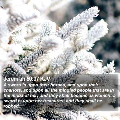 Jeremiah 50:37 KJV Bible Verse Image