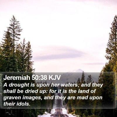 Jeremiah 50:38 KJV Bible Verse Image