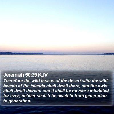 Jeremiah 50:39 KJV Bible Verse Image