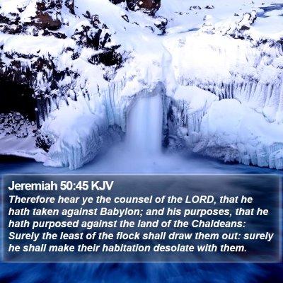 Jeremiah 50:45 KJV Bible Verse Image