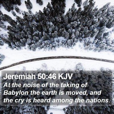 Jeremiah 50:46 KJV Bible Verse Image