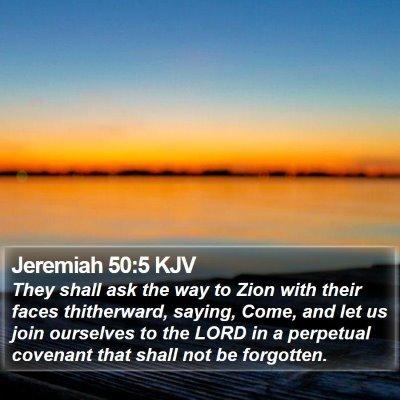 Jeremiah 50:5 KJV Bible Verse Image