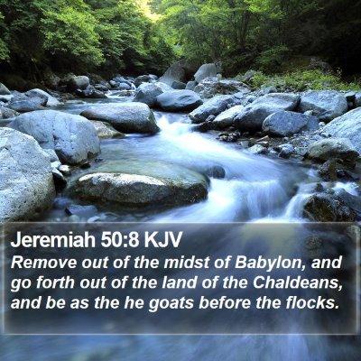 Jeremiah 50:8 KJV Bible Verse Image