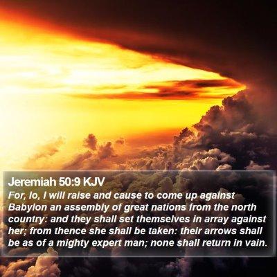 Jeremiah 50:9 KJV Bible Verse Image
