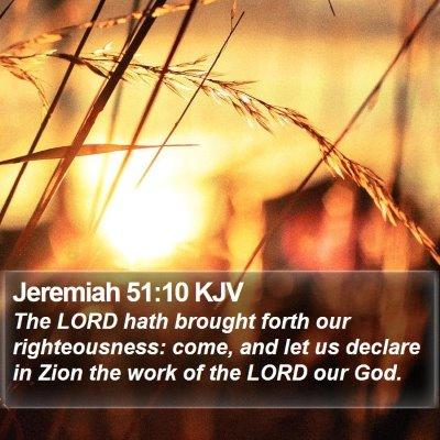 Jeremiah 51:10 KJV Bible Verse Image