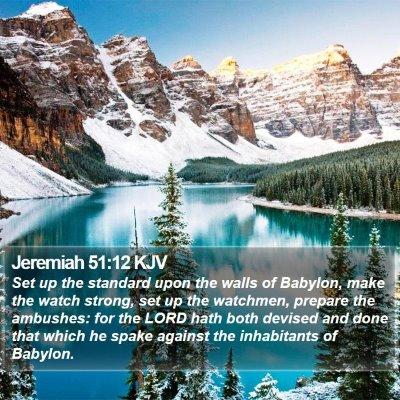 Jeremiah 51:12 KJV Bible Verse Image