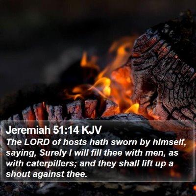 Jeremiah 51:14 KJV Bible Verse Image