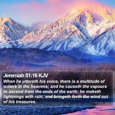 Jeremiah 51:16 KJV Bible Verse Image