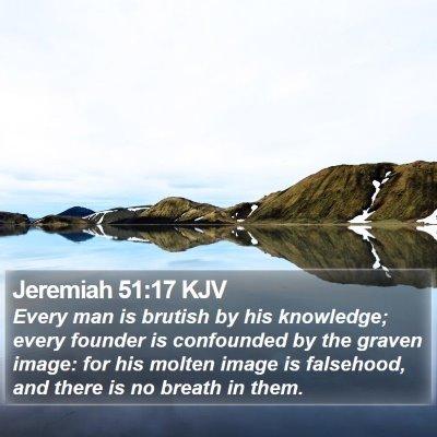 Jeremiah 51:17 KJV Bible Verse Image