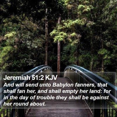 Jeremiah 51:2 KJV Bible Verse Image