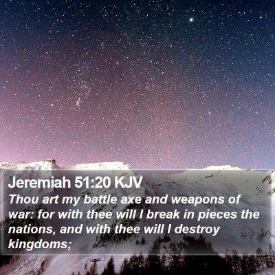 Jeremiah 51:20 KJV Bible Verse Image