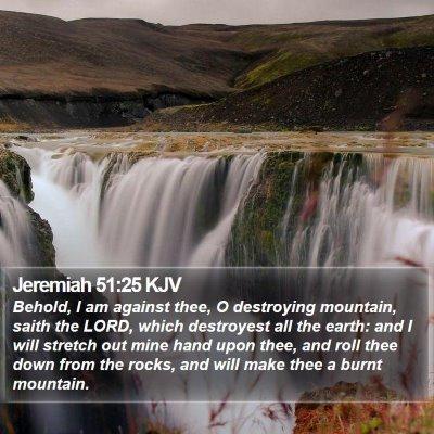 Jeremiah 51:25 KJV Bible Verse Image
