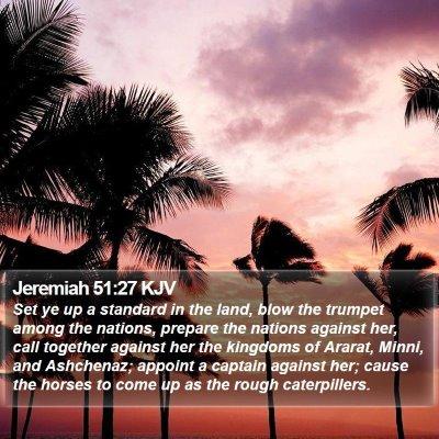 Jeremiah 51:27 KJV Bible Verse Image