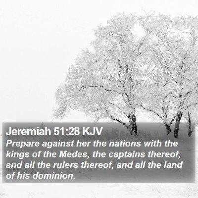 Jeremiah 51:28 KJV Bible Verse Image