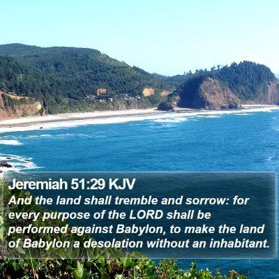 Jeremiah 51:29 KJV Bible Verse Image
