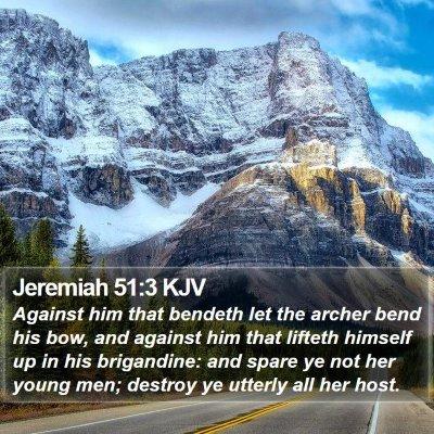 Jeremiah 51:3 KJV Bible Verse Image