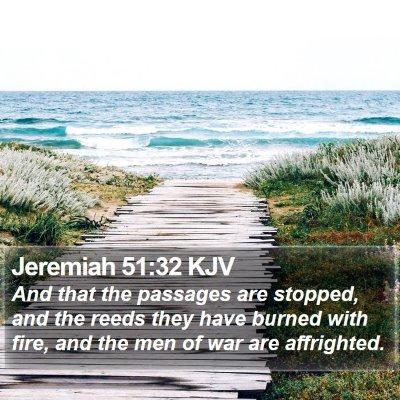 Jeremiah 51:32 KJV Bible Verse Image