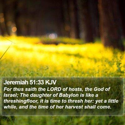 Jeremiah 51:33 KJV Bible Verse Image