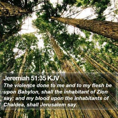 Jeremiah 51:35 KJV Bible Verse Image