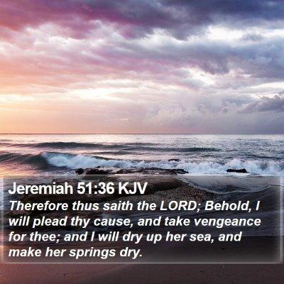 Jeremiah 51:36 KJV Bible Verse Image