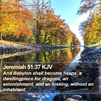 Jeremiah 51:37 KJV Bible Verse Image