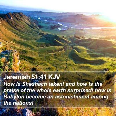 Jeremiah 51:41 KJV Bible Verse Image