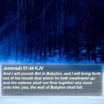 Jeremiah 51:44 KJV Bible Verse Image