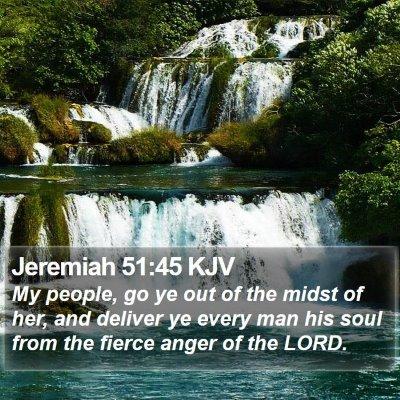 Jeremiah 51:45 KJV Bible Verse Image