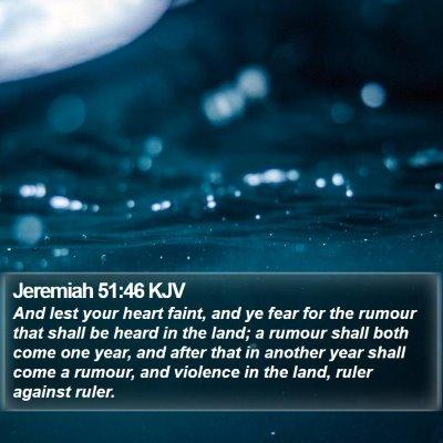 Jeremiah 51:46 KJV Bible Verse Image