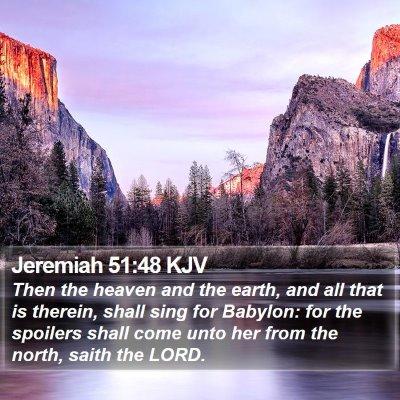 Jeremiah 51:48 KJV Bible Verse Image