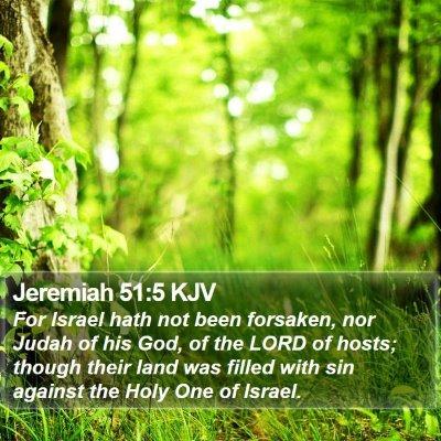 Jeremiah 51:5 KJV Bible Verse Image