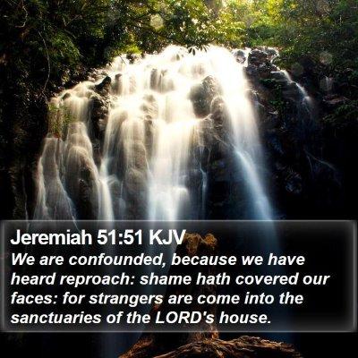 Jeremiah 51:51 KJV Bible Verse Image