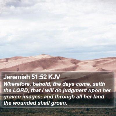 Jeremiah 51:52 KJV Bible Verse Image