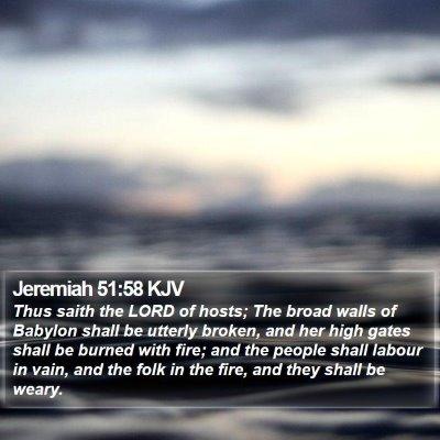 Jeremiah 51:58 KJV Bible Verse Image