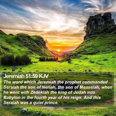 Jeremiah 51:59 KJV Bible Verse Image